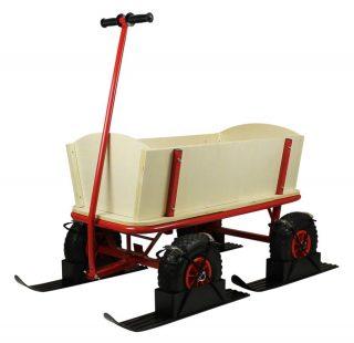 Beachtrekker Style Bollerwagen mit Kufen